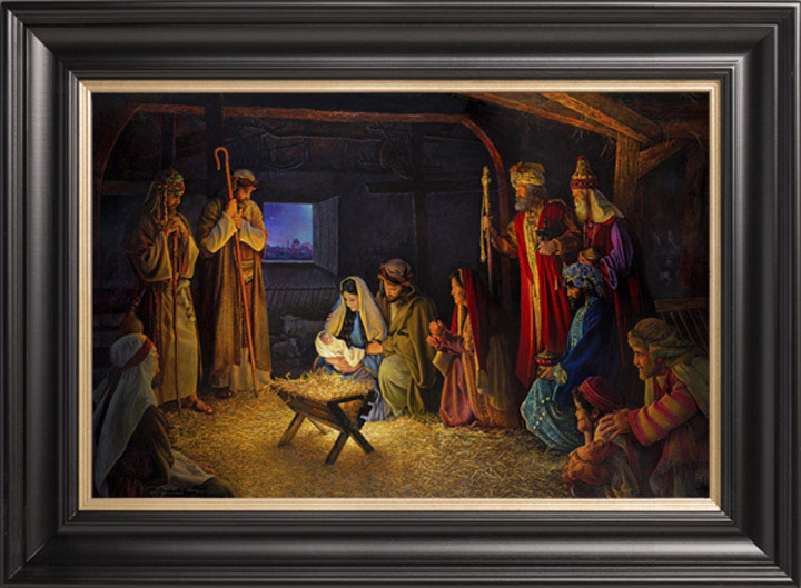 The Nativity – 22×36 Limited Edition Canvas (1500 S/N) Framed