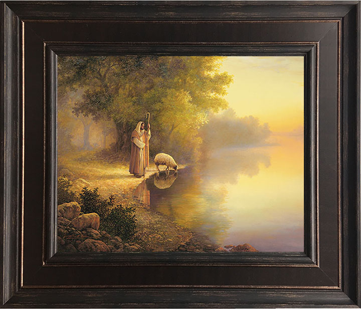 Beside Still Waters – 24×28 Framed Art