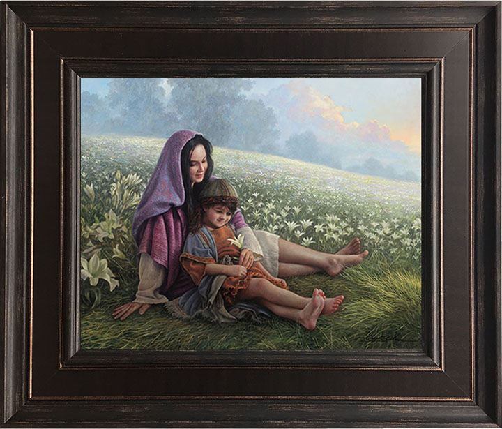 Consider the Lilies – 24×28 Framed Art by Greg Olsen