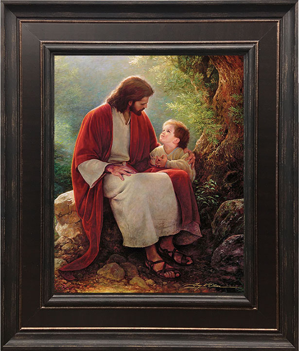 In His Light – 22×26 Framed Art by Greg Olsen