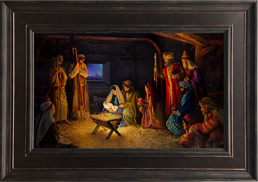 The Nativity – 22×31 Framed Art by Greg Olsen