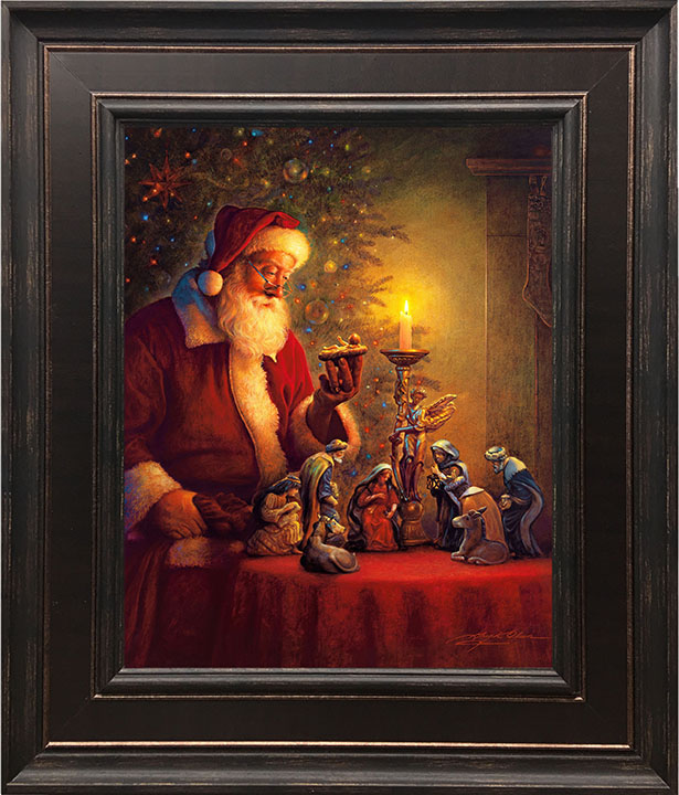 The Spirit of Christmas – 24×28 Framed Art by Greg Olsen