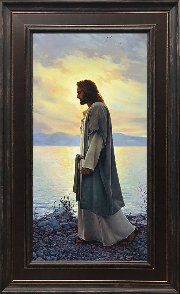 Walk With Me – 19×30 Framed Art by Greg Olsen