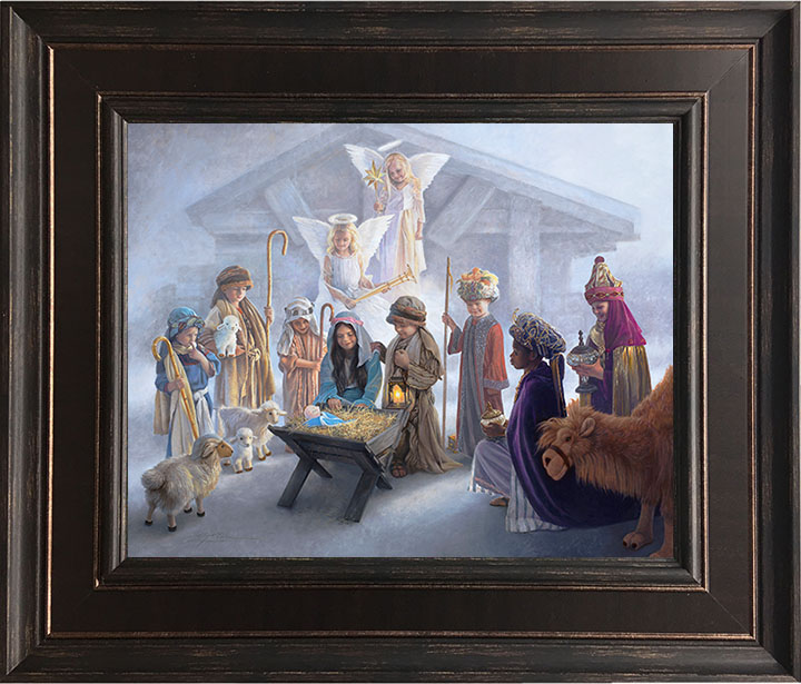 Away in a Manger – 24×28 Framed Art by Greg Olsen