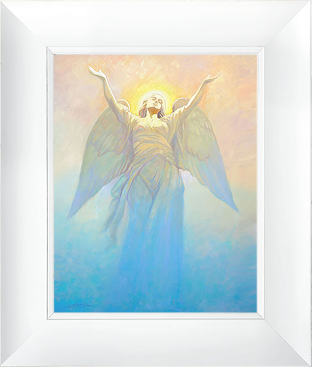 Angel of Hope – 23×27 Framed Art (White Frame) by Greg Olsen
