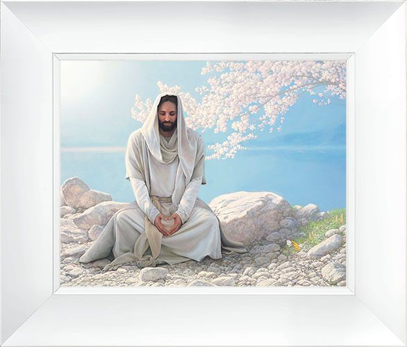 As I Have Loved You – 23×27 Framed Art (White Frame) by Greg Olsen