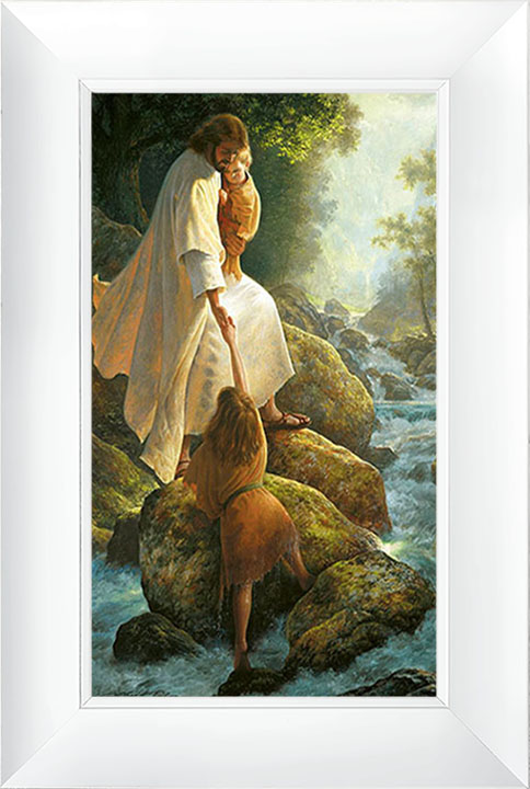 Be Not Afraid – 21×30 Framed Art (White Frame) by Greg Olsen