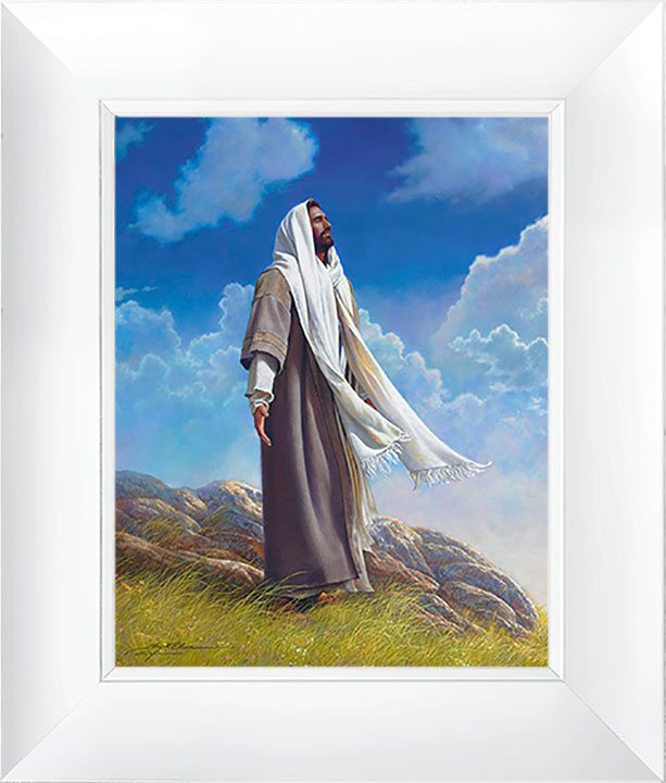 Be Still – 23×27 Framed Art (White Frame) by Greg Olsen
