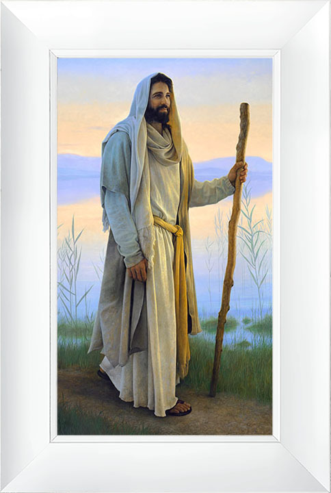 Come Follow Me – 21×30 Framed Art (White Frame) by Greg Olsen