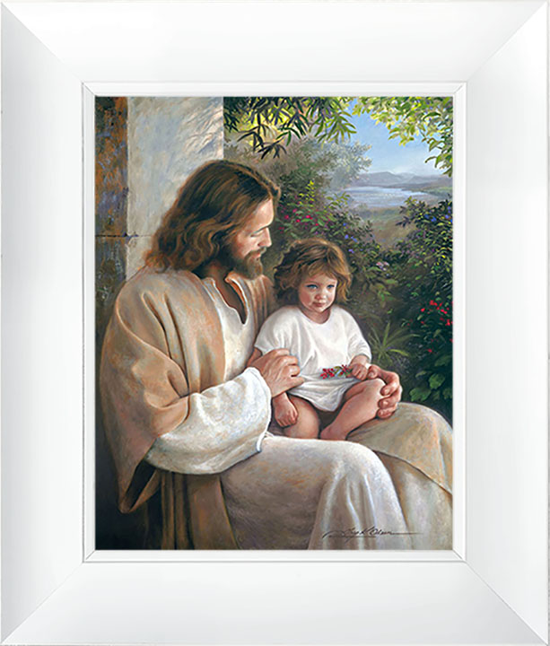 Forever and Ever – 21×25 Framed Art (White Frame) by Greg Olsen