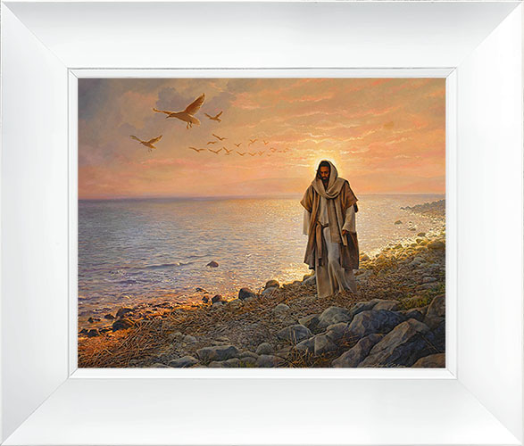 In the World, Not of the World – 23×27 Framed Art (White Frame) by Greg Olsen