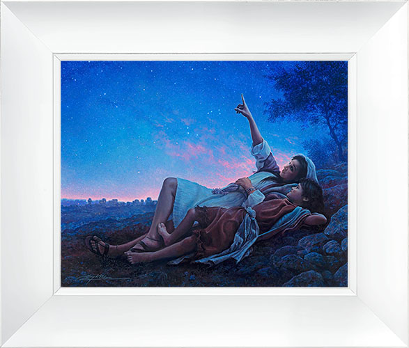 Just for a Moment – 23×27 Framed Art (White Frame) by Greg Olsen