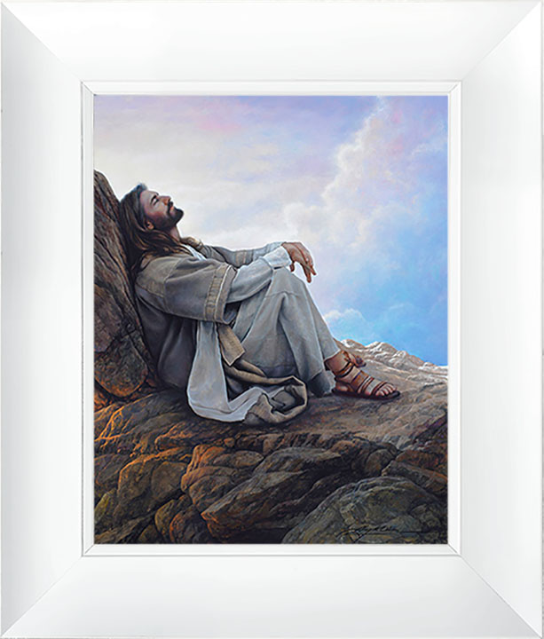 The Kingdom Within – 23×27 Framed Art (White Frame) by Greg Olsen