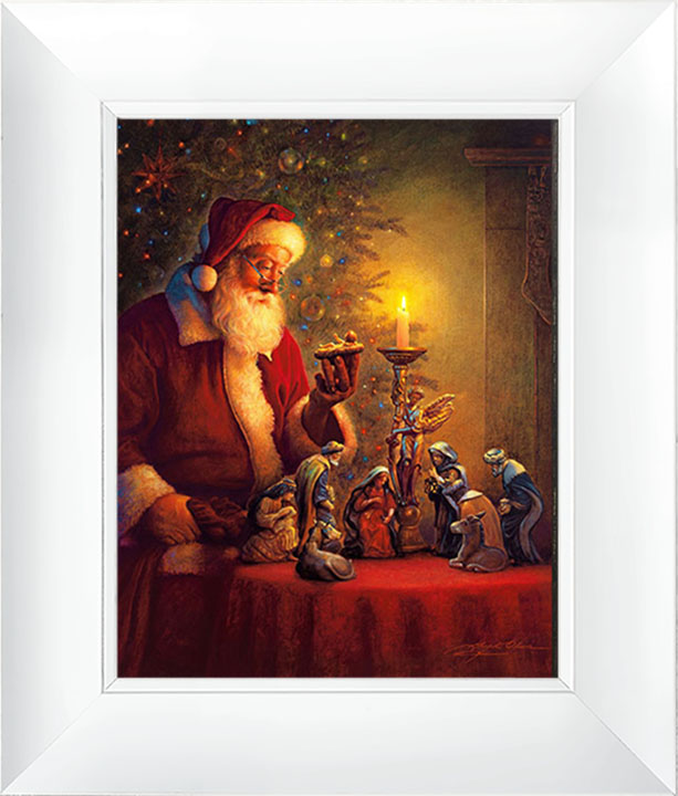 The Spirit of Christmas – 23×27 Framed Art (White Frame) by Greg Olsen